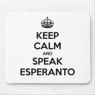 KEEP CALM AND SPEAK ESPERANTO MOUSE PAD