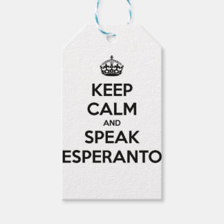 KEEP CALM AND SPEAK ESPERANTO PACK OF GIFT TAGS