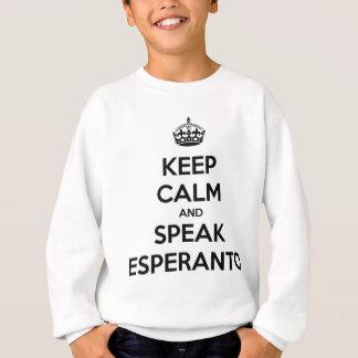 KEEP CALM AND SPEAK ESPERANTO SWEATSHIRT