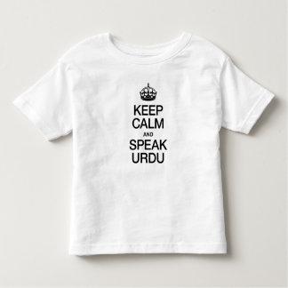 KEEP CALM AND SPEAK URDU TEE SHIRTS