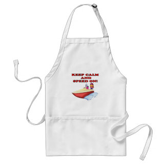 Keep Calm And Speed On Standard Apron