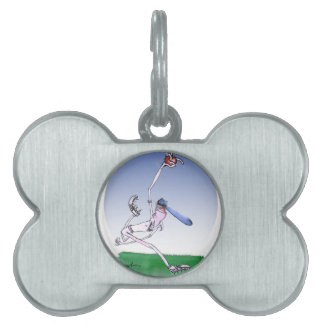keep calm and spin that ball, tony fernandes pet ID tags