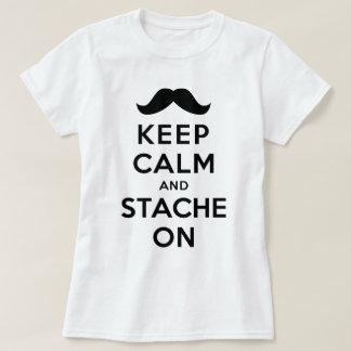 Keep Calm and Stache On Tee Shirt