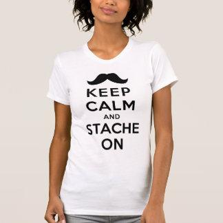 Keep Calm and Stache On Tee Shirts