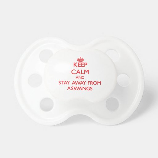 Keep calm and stay away from Aswangs Baby Pacifier