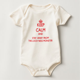 Keep calm and stay away from The Loch Ness Monster Baby Bodysuit
