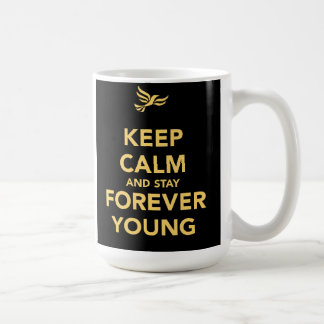 Keep Calm And Stay Forever Young Coffee Mug