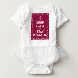 Keep Calm and Stay Hyggelig Baby Bodysuit