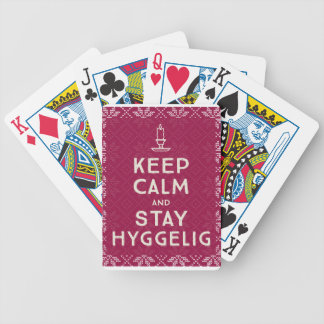 Keep Calm and Stay Hyggelig Bicycle Playing Cards