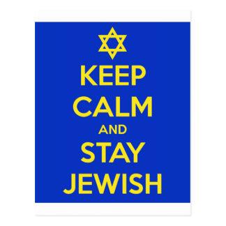 Keep Calm and Stay Jewish Postcard