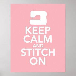 Keep Calm and Stitch On print