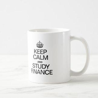 KEEP CALM AND STUDY FINANCE COFFEE MUG