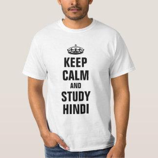 Keep calm and study Hindi T-Shirt
