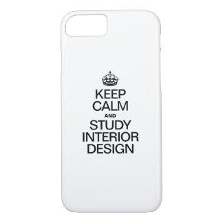 KEEP CALM AND STUDY INTERIOR DESIGN iPhone 7 CASE