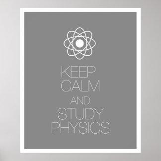 Keep Calm and Study Physics Print