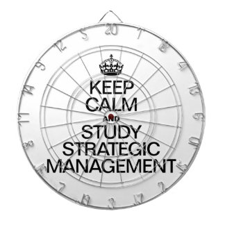 KEEP CALM AND STUDY STRATEGIC MANAGEMENT DARTBOARDS