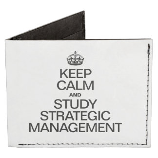 KEEP CALM AND STUDY STRATEGIC MANAGEMENT BILLFOLD WALLET