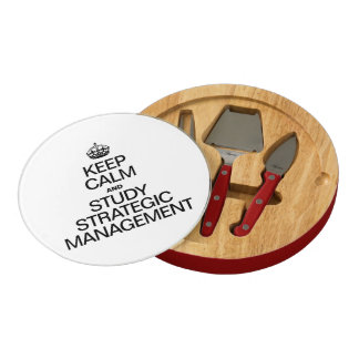 KEEP CALM AND STUDY STRATEGIC MANAGEMENT RECTANGULAR CHEESE BOARD