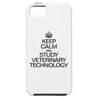 KEEP CALM AND STUDY VETERINARY TECHNOLOGY CASE FOR THE iPhone 5