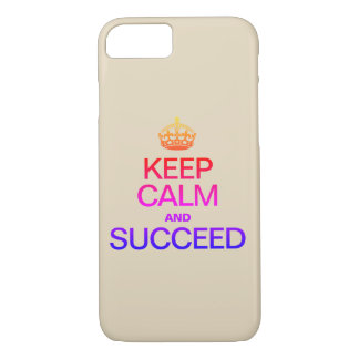 KEEP CALM AND SUCCEED Colorful iPhone 8/7 Case