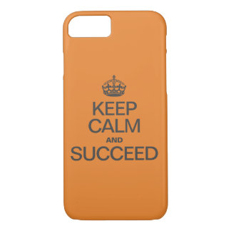 KEEP CALM AND SUCCEED Colorful orange Case-Mate iPhone Case
