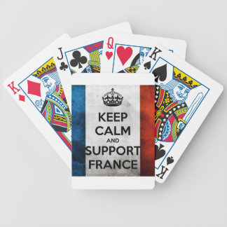 Keep Calm and Support France Poker Deck