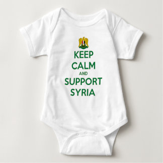 KEEP CALM AND SUPPORT SYRIA BABY BODYSUIT