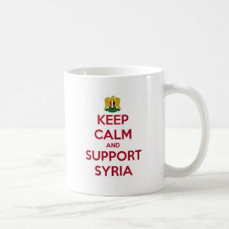 KEEP CALM AND SUPPORT SYRIA COFFEE MUG