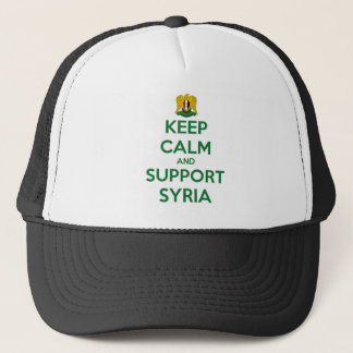 KEEP CALM AND SUPPORT SYRIA TRUCKER HAT