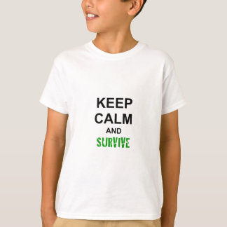 Keep Calm and Survive cracked green blue red T-Shirt