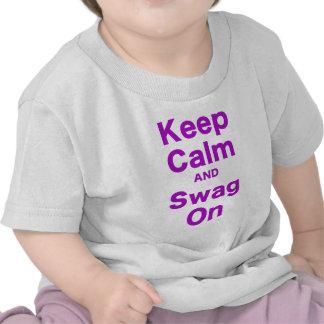 Keep Calm and Swag On Tee Shirts