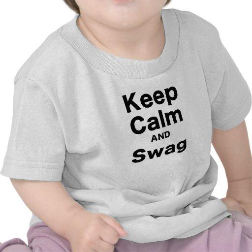 Keep Calm and Swag Tee Shirts