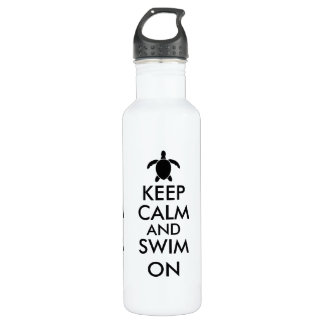 Keep Calm and Swim On Honu Sea Turtle Custom 710 Ml Water Bottle