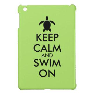 Keep Calm and Swim On Honu Sea Turtle Custom iPad Mini Cover