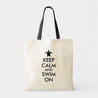 Keep Calm and Swim On Honu Sea Turtle Custom Tote Bag