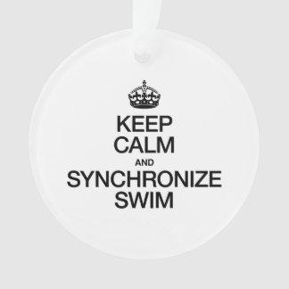 KEEP CALM AND SYNCHRONIZE SWIM