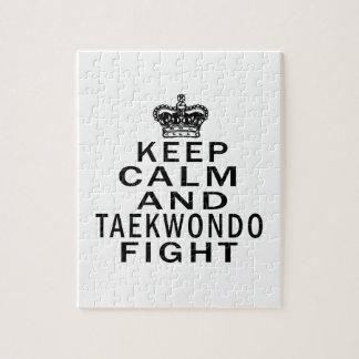 Keep Calm And Taekwondo Fight Jigsaw Puzzle