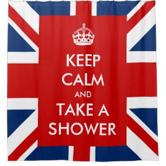 Keep Calm and Take A Shower and UK Flag Union Jack
