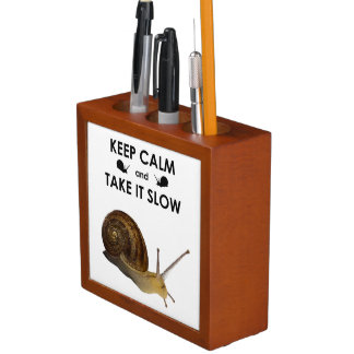 Keep Calm and Take it Slow Desk Tidy Desk Organizer