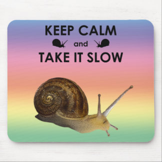 Keep Calm and Take it Slow Mousemat (Rainbow) Mouse Pad