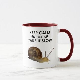 Keep Calm and Take it Slow Mug