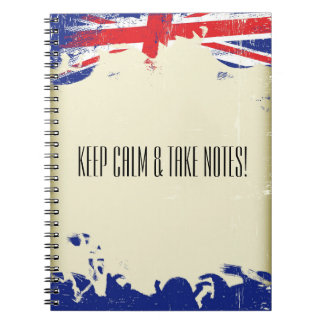 Keep calm and take notes notebook