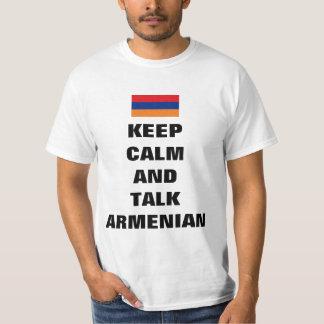 Keep calm and talk Armenian T-Shirt