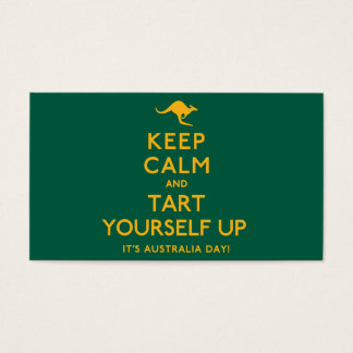 Keep Calm and Tart Yourself Up! Business Card