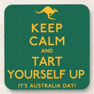 Keep Calm and Tart Yourself Up! Coaster