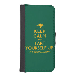 Keep Calm and Tart Yourself Up! iPhone SE/5/5s Wallet Case