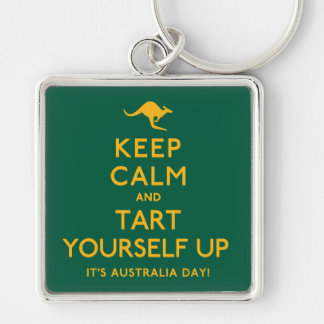 Keep Calm and Tart Yourself Up! Keychain