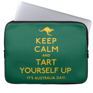 Keep Calm and Tart Yourself Up! Laptop Sleeve