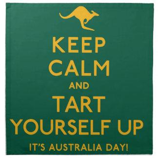 Keep Calm and Tart Yourself Up! Napkin