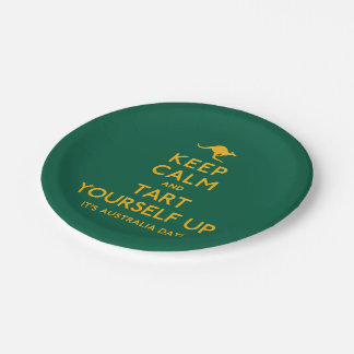 Keep Calm and Tart Yourself Up! Paper Plate
